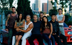 Fast and Furious, group of people, movies, Cast