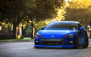 Subaru BRZ, blue cars, Subaru, car