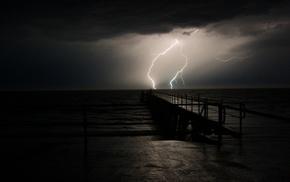 nature, sea, sky, storm