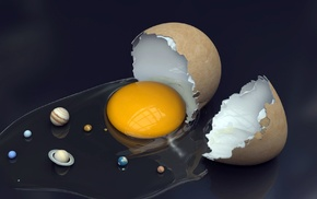 eggs, planet, space, nature, anime, Solar System
