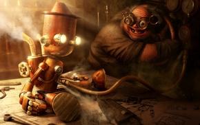 robot, steampunk