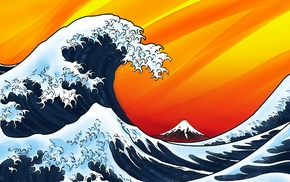 The Great Wave off Kanagawa, waves