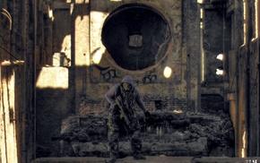 abandoned, S.T.A.L.K.E.R., urbex, Klamra, urban exploration, gas masks
