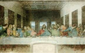 Jesus Christ, classic art, painting, Leonardo da Vinci, The Last Supper