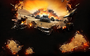 explosion, game, video games, World of Tanks