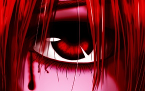 red eyes, Elfen Lied, Lucy