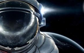 digital art, space, astronaut