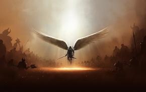 angel, wings, undead, artwork