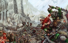 battle, Warhammer, orcs, war