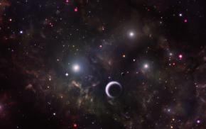 космос, космический арт, звезды, планета