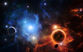 космос, космический арт, планета, туманность