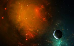звезды, космический арт, космос, планета