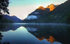 горы, пейзаж, капли воды, природа