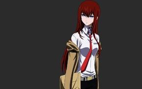 девушки из аниме, рыжие, аниме, Makise Kurisu