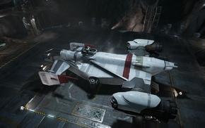 Drake Interplanetary, hangar, spaceship, Star Citizen, Robert Space Industries, cutlass