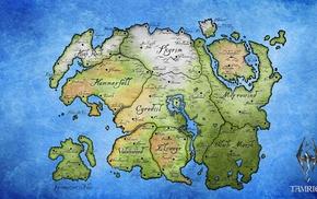 The Elder Scrolls, video games, map, Tamriel