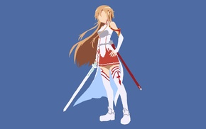 vectors, Yuuki Asuna, Sword Art Online, anime vectors, simple background