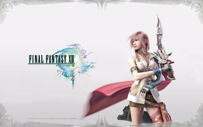 Final Fantasy XIII, video games, Claire Farron, Final Fantasy, sword