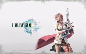 Final Fantasy XIII, video games, Claire Farron, Final Fantasy, sword