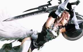 Claire Farron, Final Fantasy XIII, Final Fantasy, shields, sword, video games