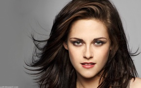 brunette, green eyes, Kristen Stewart, girl