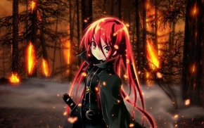 Shakugan no Shana, anime girls, redhead, Shana