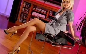 stockings, high heels, Michelle Marsh