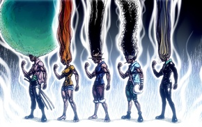 Sanji, One Piece, Roronoa Zoro, Usopp, anime, Monkey D. Luffy
