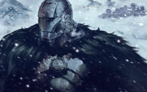 crossover, snow, House Stark, Game of Thrones, Iron Man