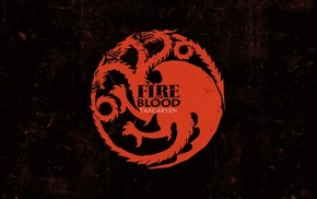 dragon, A Song of Ice and Fire, House Targaryen, grunge, anime, sigils