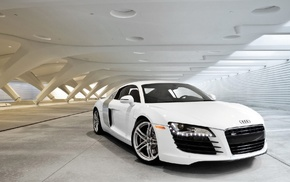 Audi, cars, white background