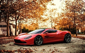 car, Aston Martin, red cars, Aston Martin DBC