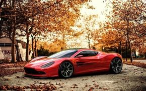 машина, Aston Martin, красные машины