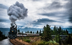 steam locomotive, train