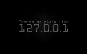 simple, 127.0.0.1, black, typography, unixporn, monochrome