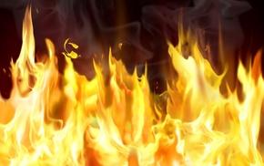 fire, smoke, 3D, flame