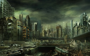 dystopian, futuristic, apocalyptic