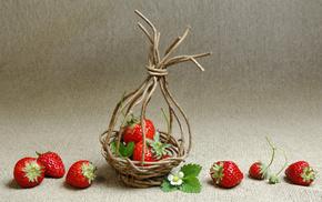 basket, color, strawberry, delicious