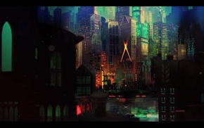 городской пейзаж, игры