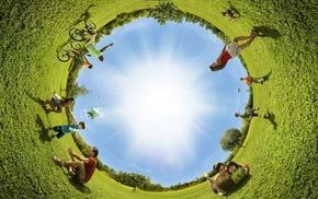 summer, creative, grass, people, park
