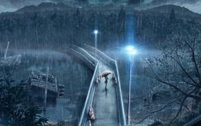 alone, rain, night