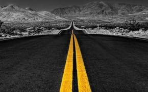 road, selective coloring