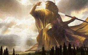MTG born of the gods, Heliod, artwork, Magic The Gathering