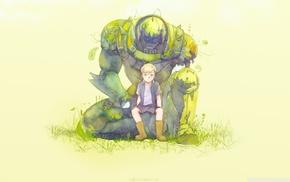 Full Metal Alchemist, anime, Elric Alphonse, simple