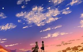 фантастическое исскуство, закат, облака, небо