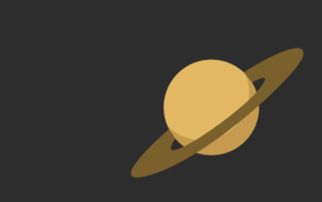 vectors, space, minimalism, Saturn, planet