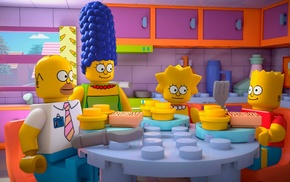 Marge Simpson, LEGO, Homer Simpson, Bart Simpson, Lisa Simpson, The Simpsons