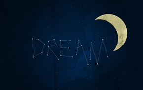 artwork, blue, crescent moon