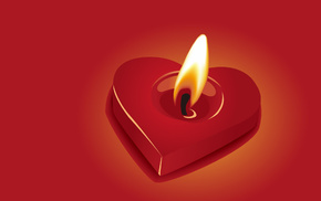 love, candle, heart