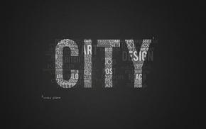 город, минимализм, типография